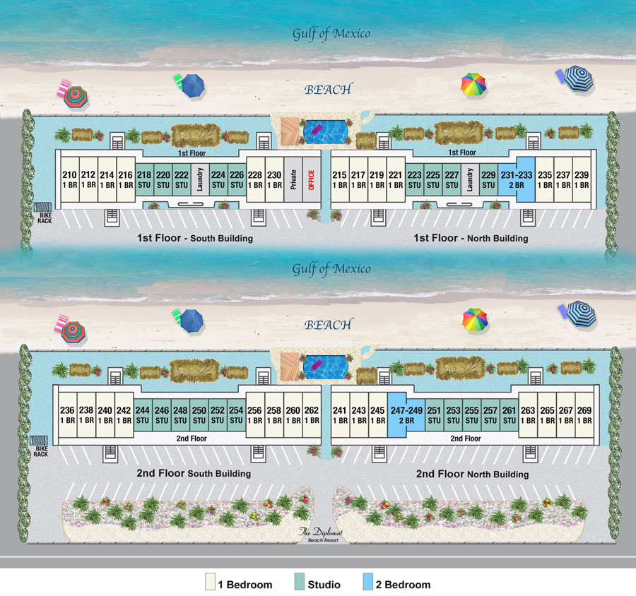Longboat Key Rentals Resort Map Diplomat Resort